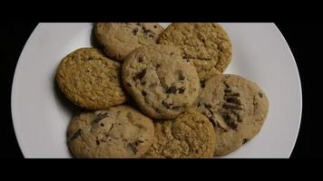 Cinematic, Rotating Shot of Cookies on a Plate - COOKIES 078 video