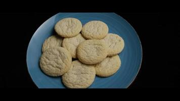 Cinematic, Rotating Shot of Cookies on a Plate - COOKIES 050 video