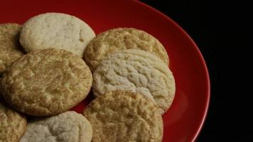 Cinematic, Rotating Shot of Cookies on a Plate - COOKIES 142 video