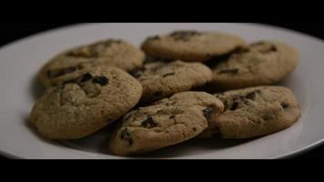 Cinematic, Rotating Shot of Cookies on a Plate - COOKIES 006 video