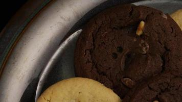 Cinematic, Rotating Shot of Cookies on a Plate - COOKIES 274 video