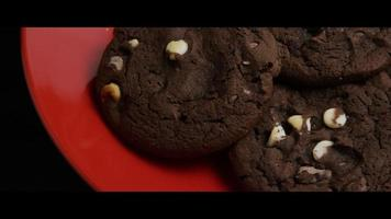 Cinematic, Rotating Shot of Cookies on a Plate - COOKIES 037 video
