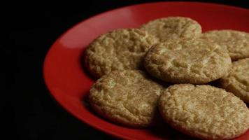 Cinematic, Rotating Shot of Cookies on a Plate - COOKIES 126 video