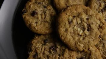 Cinematic, Rotating Shot of Cookies on a Plate - COOKIES 160 video