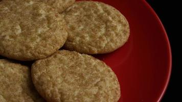 Cinematic, Rotating Shot of Cookies on a Plate - COOKIES 121 video