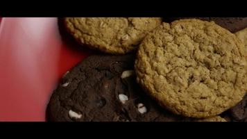 Cinematic, Rotating Shot of Cookies on a Plate - COOKIES 083 video