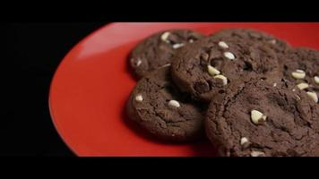 Cinematic, Rotating Shot of Cookies on a Plate - COOKIES 044 video