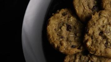 Cinematic, Rotating Shot of Cookies on a Plate - COOKIES 161 video