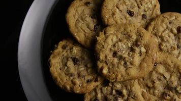 Cinematic, Rotating Shot of Cookies on a Plate - COOKIES 159 video