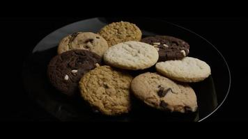 Cinematic, Rotating Shot of Cookies on a Plate - COOKIES 103 video