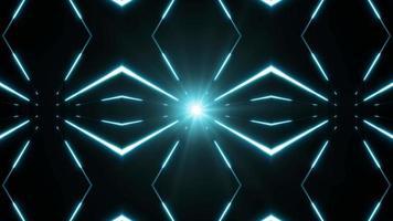 Fondo de hiperespacio con caleidoscopio de starburst brillante video
