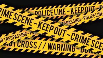 línea policial, clip de fondo de cinta de la escena del crimen video