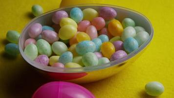 Rotating shot of colorful Easter jelly beans - EASTER 070
