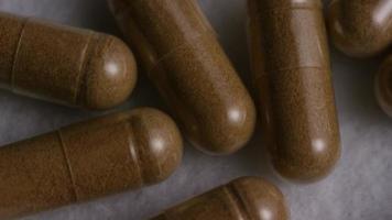 Rotating stock footage shot of vitamins and pills - VITAMINS 0119 video