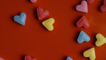 rotação de imagens de arquivo de decorações e doces de dia dos namorados - dia dos namorados 0085 video