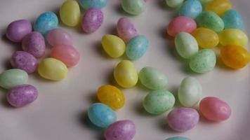 Rotating shot of colorful Easter jelly beans - EASTER 101