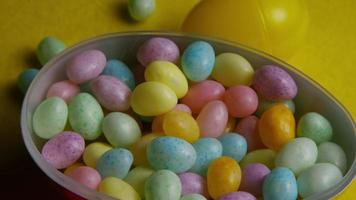 Rotating shot of colorful Easter jelly beans - EASTER 069