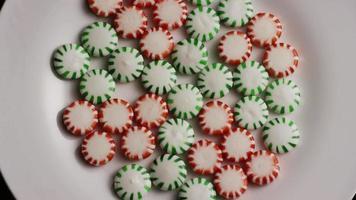 colpo rotante di caramelle dure alla menta verde - caramelle alla menta verde 058