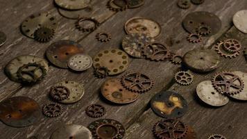 Imágenes de archivo giratorias tomadas de caras de relojes antiguas y desgastadas: caras de relojes 087
