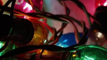 Plano cinematográfico y giratorio de luces navideñas ornamentales - navidad 055