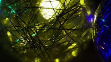 cena cinematográfica rotativa de luzes de natal ornamentais - natal 041