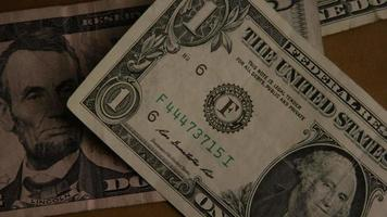 Rotating shot of American money (currency) - MONEY 460