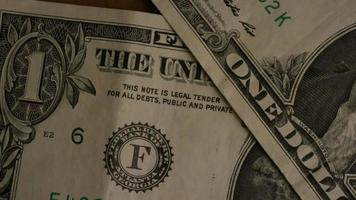 Rotating shot of American money (currency) - MONEY 469