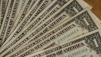 Rotating shot of American money (currency) - MONEY 537