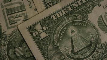 Rotating shot of American money (currency) - MONEY 464