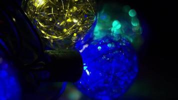 Plano cinematográfico y giratorio de luces navideñas ornamentales - navidad 038