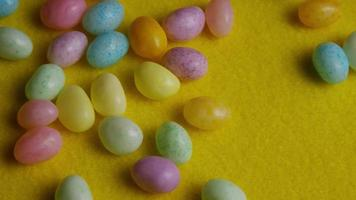 Rotating shot of colorful Easter jelly beans - EASTER 075