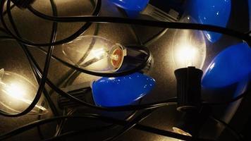Plano cinematográfico y giratorio de luces navideñas ornamentales - navidad 016