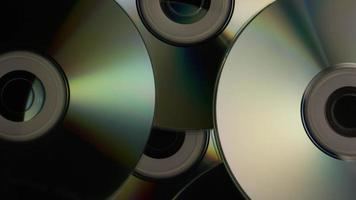 Rotating shot of compact discs - CDs 008