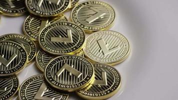 colpo rotante di bitcoin litecoin (criptovaluta digitale) - bitcoin litecoin 0030