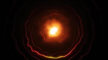 cerchi di luce astratti loop senza soluzione di continuità