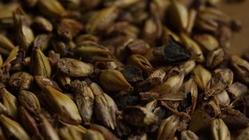 Tiro giratorio de cebada y otros ingredientes para la elaboración de cerveza - elaboración de cerveza 083