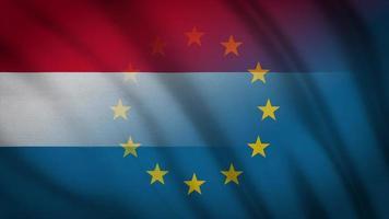 drapeau de l'UE des Pays-Bas