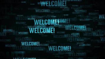 Begrüßungsnachricht Hintergrundschleife in blau video