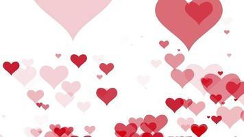 movimiento corazón rojo sobre fondo blanco