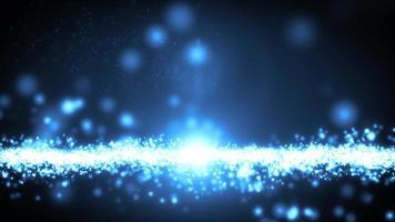 abstrakte Lichtteilchen-Fließschleife video