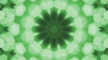 caleidoscopio bokeh verde