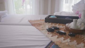 decoración de masajes spa y tratamientos corporales.