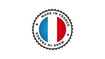 gemacht in Frankreich Abzeichen Animation