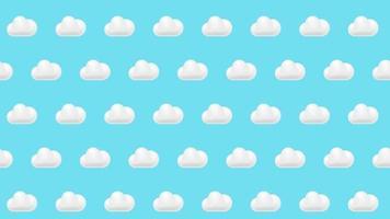fond de nuage video