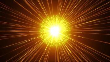 Firecoms Zeitlupenhintergrund mit leuchtendem Starburst