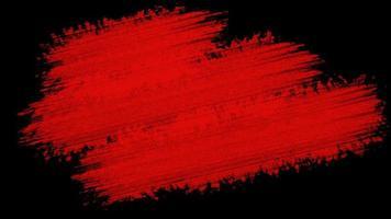 pintando pincel vermelho grunge