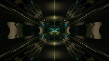 futuristischer Science-Fiction-Tunnel im Alien-Stil