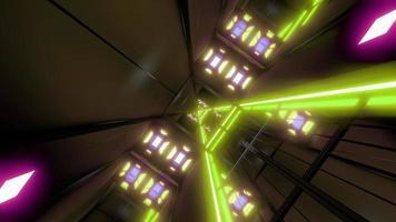 túnel espacial giratório