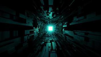 Black SciFi Space Tunnel  video