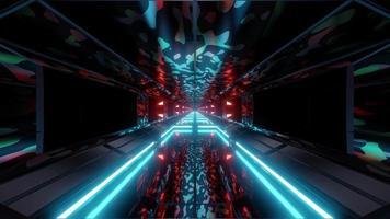 túnel espacial de camuflagem